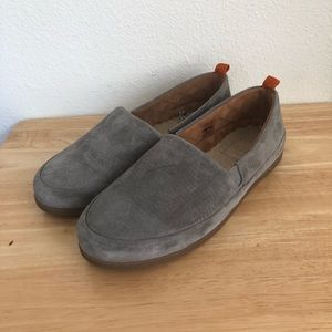 Mulo Grey Suede Cushioned Footbed Loafers
